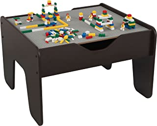 KidKraft 2-in-1 Activity Table with Board (Gray/Espresso) - Limited Edition