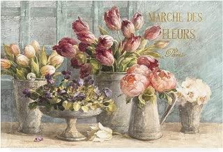 Trademark Fine Art Marche des Fleurs Blue Gold by Danhui NAI, 22x32