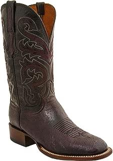 Men's Handmade Lance Smooth Ostrich Horseman Boot Square Toe