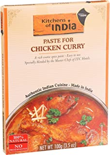 Kitchens of India Chicken Curry Paste, 3.5 Ounce - 6 per case.