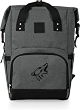 PICNIC TIME Cooler NHL Arizona Coyotes OTG Roll Top Backpack, Heathered Gray, One size