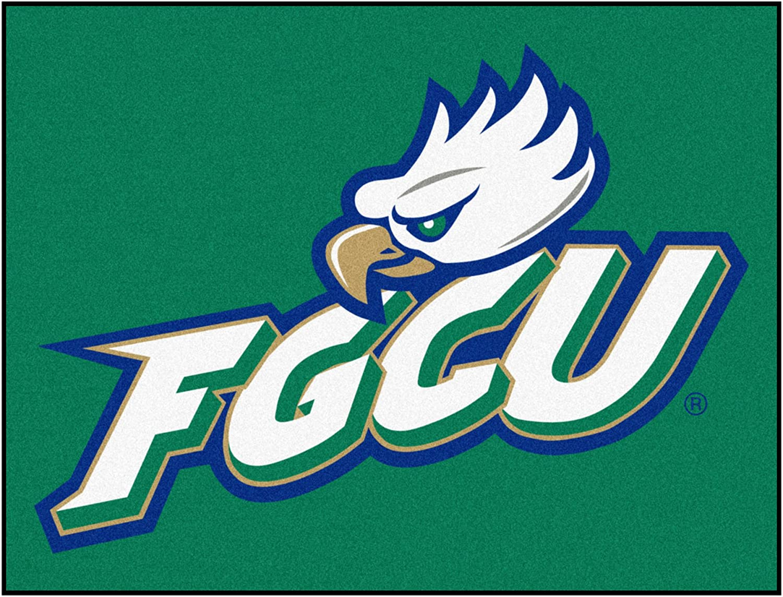 FANMATS NCAA Florida Gulf Coast University Eagles Nylon Face Ultimat Rug