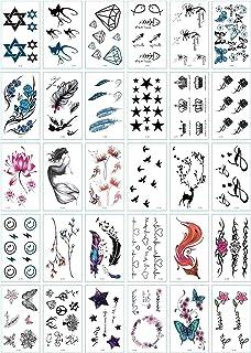 CQHUI 30 stks/set Nee Herhaal Tijdelijke Tattoo Stickers Waterdichte Tatoeages voor Dames Sexy Arm Slavine Lichaamskunst H...