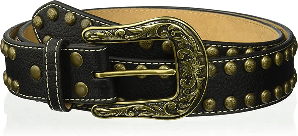 Nocona Belt Co. Women's Copper Arrow Nail Stud Belt, black