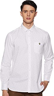 Amazon Brand - House & Shields Men's Printed Regular Fit Casual Shirt