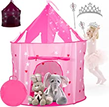 Kiddey Princess Castle Play Tent with Glow in The Dark Stars – Comes with Tiara and..