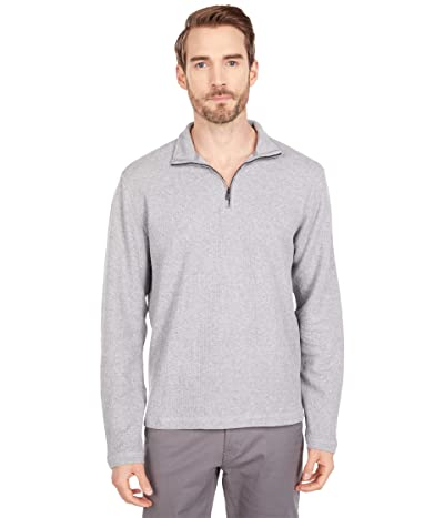 Lucky Brand French Rib 1/2 Zip Mock Sweatshirt (Heather Grey) Men