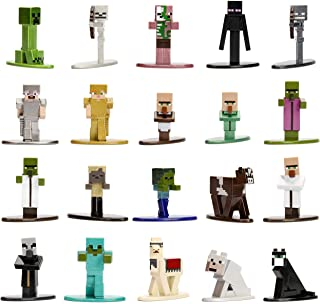"Jada Toys Minecraft 20 Pack Wave Die-Cast Figure Wave 1 1.65"" Multicolor"
