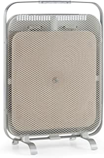 Klarstein HeatPal Marble - Calentador infrarrojo, Calefactor, 1300W, Almacenamiento de Calor, Bajo Consumo, Móvil, Silencioso, 48 x 67cm, Mármol, Aluminio