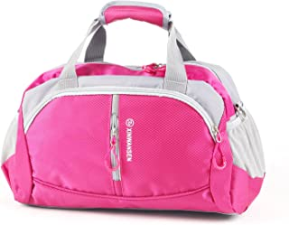 XINWANSEN 20 litres Duffle Travel Bag Tote Carry-On Shoulder Bag for Women Men Trips Sports with Shoulder Strap Rose Red