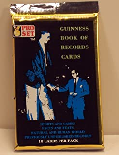 Guinness Book of Records Trading Card Pack - 10 cards per pack - Sports Games, Facts and Feats, Natural and Human World