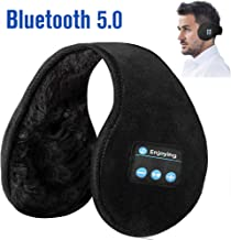 Bluetooth Earmuffs Headphones Ear Wamer,Lavince Unisex Foldable Ear Warmers Bluetooth V5.0 Wireless Music Earmuffs Headsets with Microphone Ear Muffs for Winter Outdoor Men Women,Black