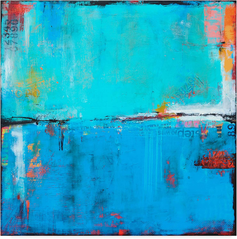 Trademark Fine Art Matchbox bluees 5 by Erin Ashley 5 Wall Decor, 14x14(WAG03447-C1414GG)