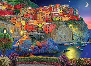 DIY Paint by Numbers Kit for Adults - Cinque Terre Italy   Paint by Number Kit On Canvas for Beginners   Home Wall Decor  ...