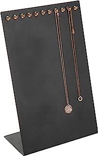 MyGift 11-Hook Black & Gold Metal Necklace Display Board
