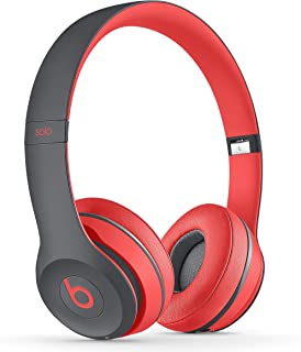 Beats by Dr. Dre Solo2 Wireless On-Ear Headphones, Active Collection - Red/Grey (MKQ22ZM/A)
