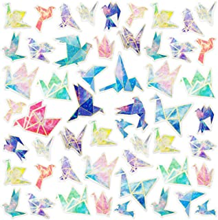 PAGOW 120PCS Colourful Paper Bird Scrapbooking Stickers, Paper Birds Kwaii Stickers, Doraking DIY Decoration for Laptop, R...