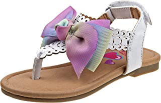 Girls' Thong Sandals with Signature Bow and Easy Heel Strap (Toddler/Little Kid/Big Kid)