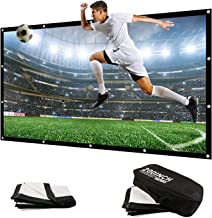 NIERBO 200 Inch Large Huge Projector Screen Big 16:9 3D Portable Movie Screen of Canvas Material Folding Projection Screen...