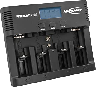 Ansmann 1001-0018 Batteriladdare för 4 x AA och AAA Nimh Batteri, Laddare, Powerline 5 Pro