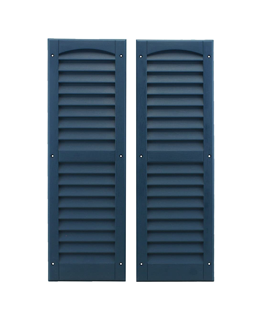 Louvered Shed Shutter or Playhouse Shutter, Blue 9