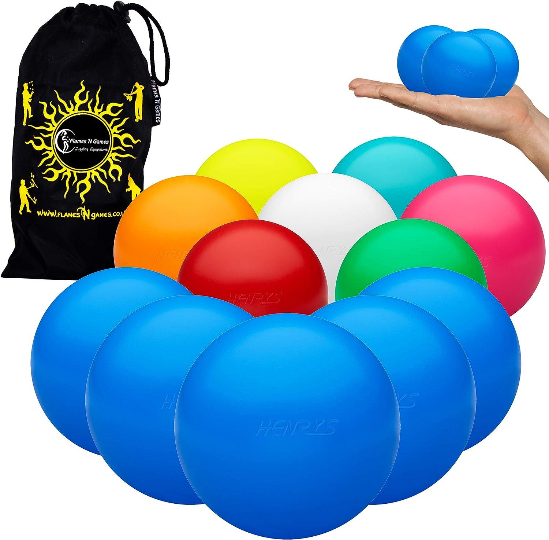 Henrys shipfree Set Atlanta Mall of 5 TPU 62mm HiX-Ball + Bag - Balls Hybrid Juggling