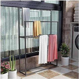 Support de serviette de piscine à 2 étages en métal avec base robuste, robuste et résistant à la rouille pour cuisine, noi...