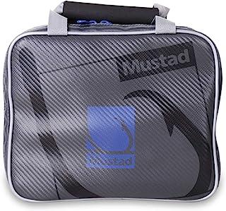 Mustad Rigger Bag, Waterproof 500-Denier Tarpaulin w/Waterproof Zippers, One-Handed Neoprene Handle, Grey/Blue