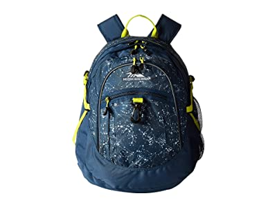 High Sierra Fatboy Backpack (Space Creatures/Rustic Blue/Glow) Backpack Bags