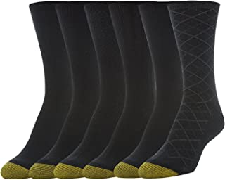 Gold Toe Women's Casual Texture Crew Socks, 6 Pairs