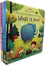 Usborne Very First Lift-the-Flap Questions And Answers Collection 2 Books Set (What are Germs, What is Poo)