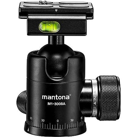 Mantona Onyx 8 Kugelkopf Arca Swiss Kompatible Kamera