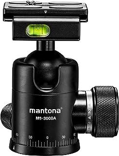 Mantona Onyx 8 głowica kulowa (M1-3008A) kompatybilna z Arca-Swiss płytka szybkomocująca 50 mm, profesjonalne wykonanie do...