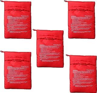 DXIA 5 Pièces Sac Pomme de Terre Micro Onde, Sac de Cuisson Micro-Ondes, Lavable Réutilisable Pommes de Terre Pouch Cooke...