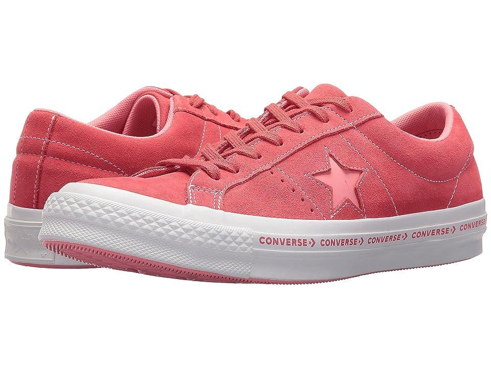 Converse One Star(r) Pinstripe Ox (Paradise Pink/Geranium Pink) Men