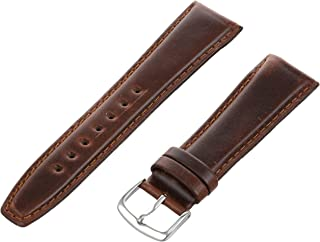 Hadley-Roma Men`s MSM881XA-160 16-mm Black Oil-Tan Leather Watch Strap