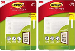 Command Damage Free Picture and Frame Hanging, Large Strips