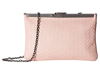 Patricia Nash Twisted Woven Embossed Asher Frame Clutch (Pink) Clutch Handbags