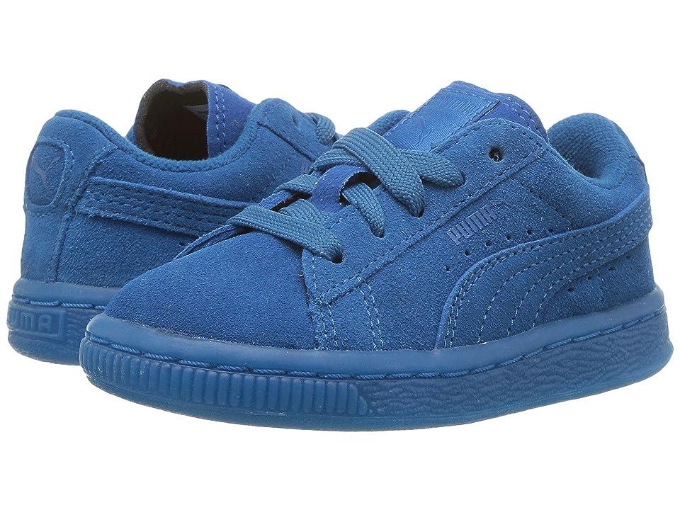 Puma Kids Suede Iced (Toddler) (Mykonos Blue) Boy