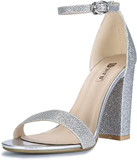 Women's IN4 Cookie-HI Open Toe High Chunky Block Heel Pump Sandal