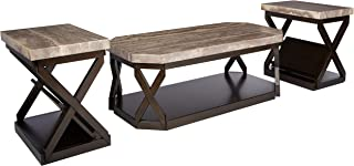 dark brown coffee table set