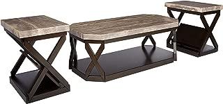 dark brown coffee table set