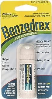Benzedrex Inhaler Propylhexedrine Nasal Decongestant, 12 Count