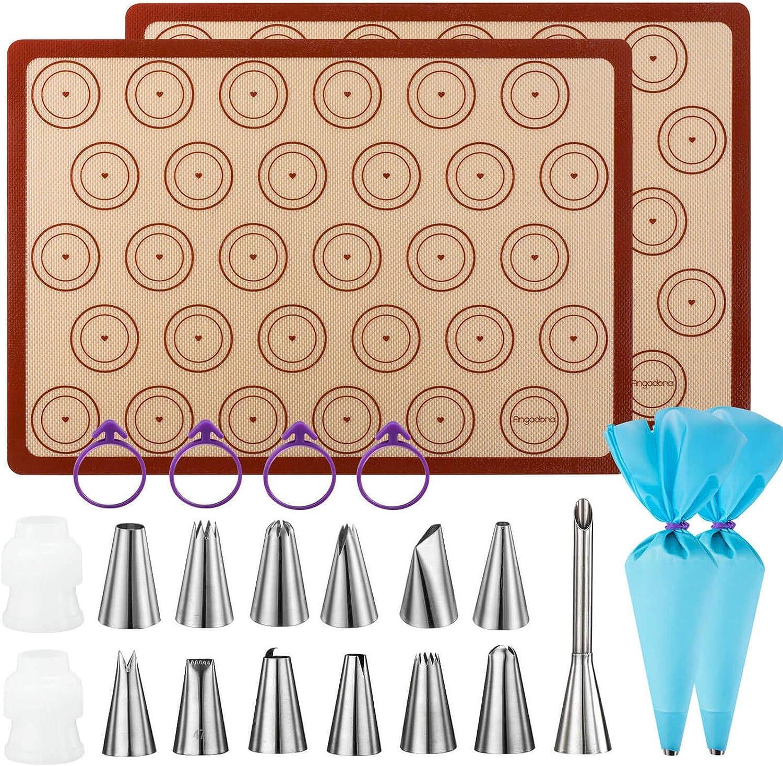 Macaron Ranking TOP5 Baking Kit Silicone Mat - 23pcs set 2 2021 model Sheet Macar Half