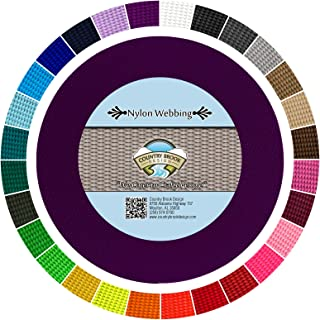 Country Brook Design - Durable 1 Inch Heavy Nylon Webbing - 29 Vibrant Colors (Purple, 10 Yards)