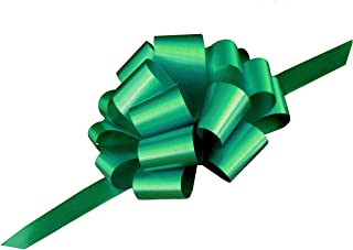 Large Emerald Green Pull Bows - 9