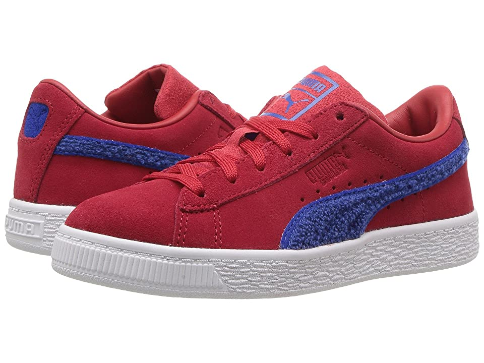 Puma Kids Suede Classic Terry (Little Kid/Big Kid) (Toreador/Lapis Blue) Boys Shoes