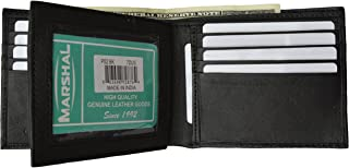 Marshal Premium soft latest style Bifold wallet For Men & Women   Genuine Leather Holder With 11 Slots, 2 Bill Compartments & ID Window   For Credit/Debit Cards, Money, Driver's License, Travel & More