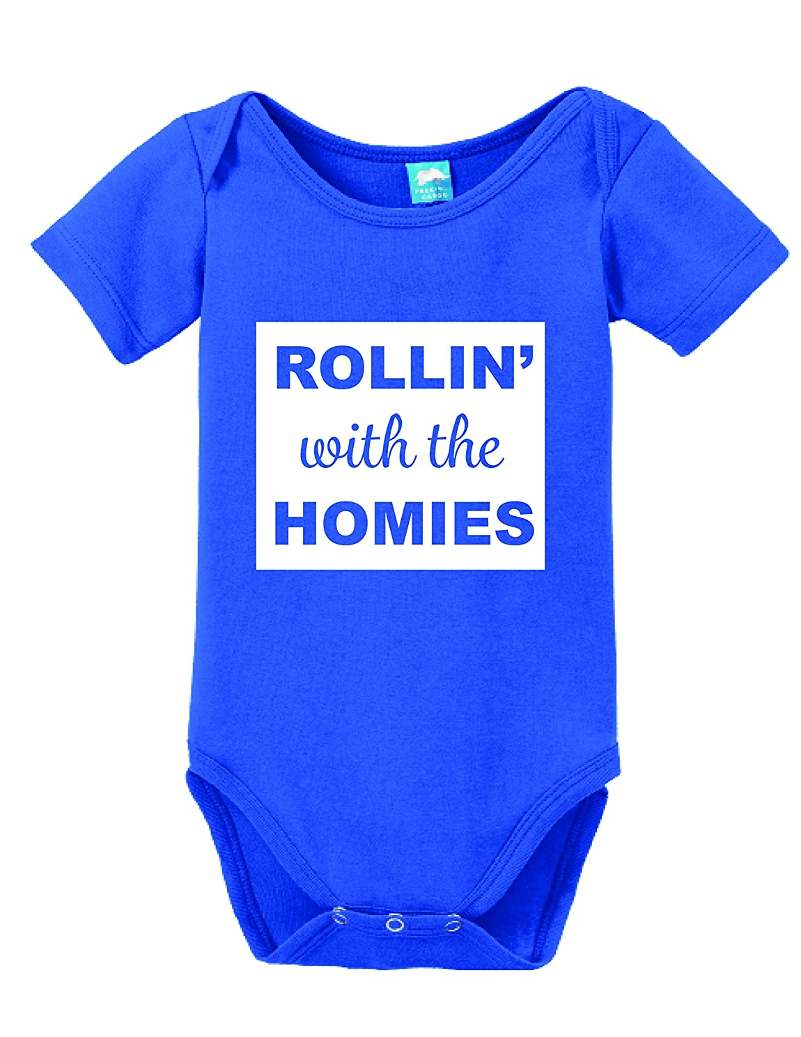 Sod Uniforms Rollin' with The Homies Printed Infant Bodysuit Baby Romper Royal 3-6 Month