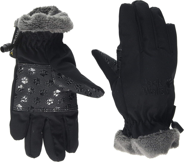Jack Wolfskin Kids Softshell Highloft Glove Kids, Black, 11-12Y